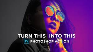 Color Gradient Photoshop Action