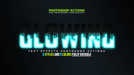 Glowing Text Effects Photoshop Actions