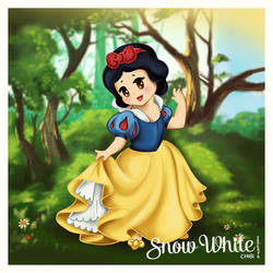 Disney Snow White chibi by Alekstjarna
