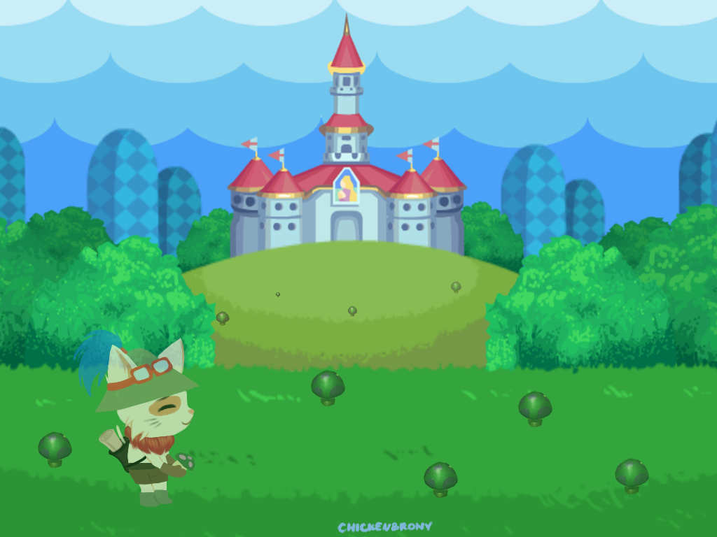 Teemo in the Mushroom Kingdom [CHALLENGE] by ChickenBrony