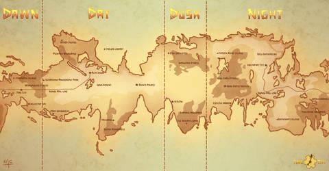 Time City World Map by Noctuart