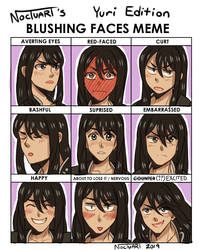 blushing meme Yuri by Noctuart