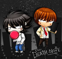 DN - Chibi L and Light (Version 2) by DaphInteresting