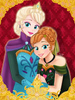 Disney - Elsa and Anna by DaphInteresting