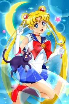 SM - Sailor Moon + Luna