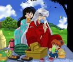 Inuyasha - Feudal Era Picnic by DaphInteresting