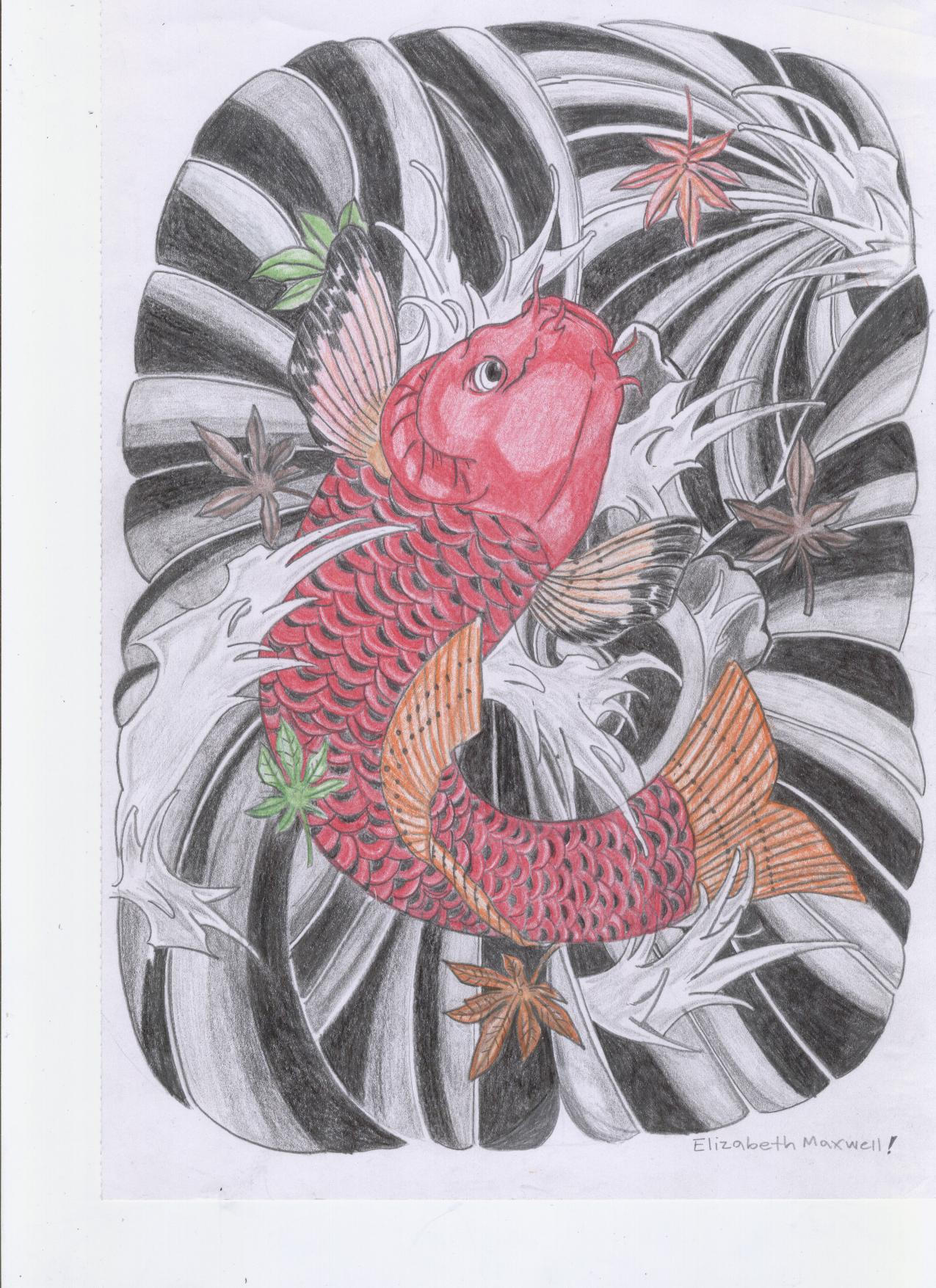 Japanese koi fish car interior design for Pictures of japanese koi fish