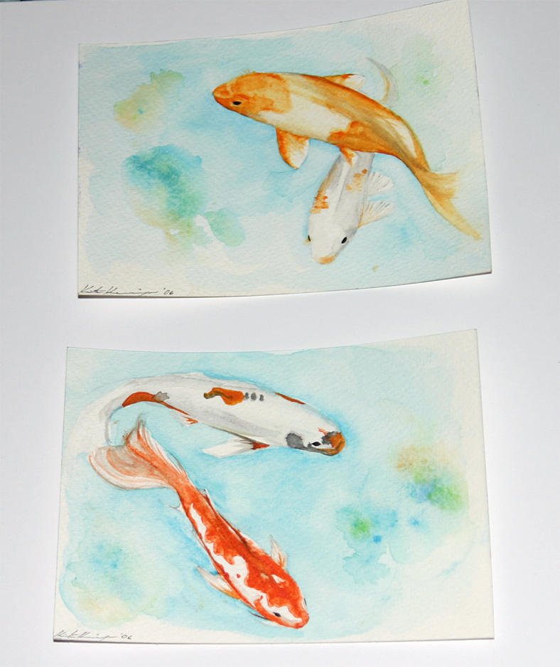 Koi trial by error by japanese koi fish on deviantart for Koi fish japanese art