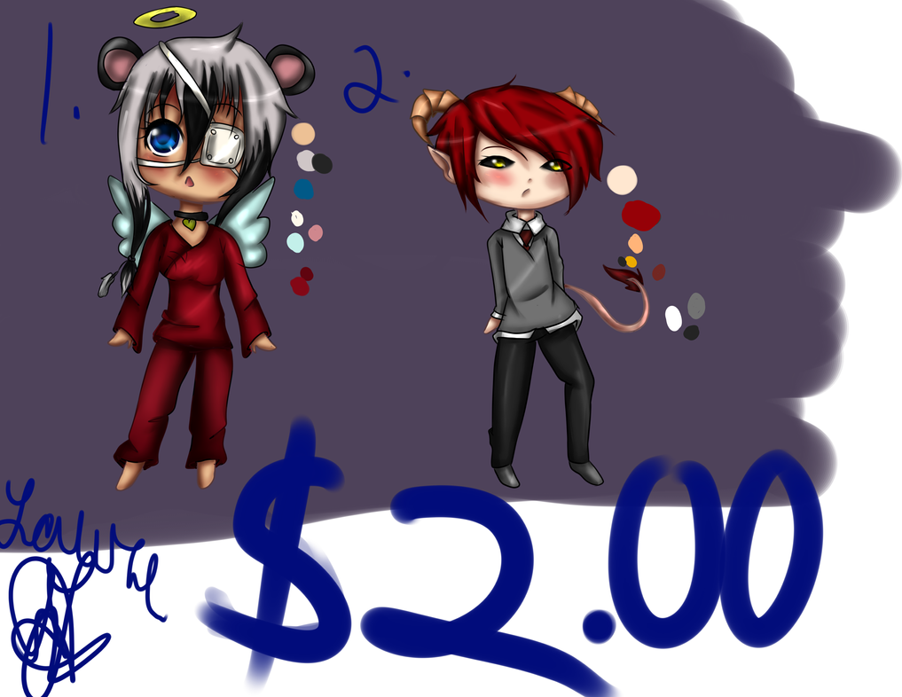 paypal adopts: $2 dollors(open!) by KawaiiPandachan16