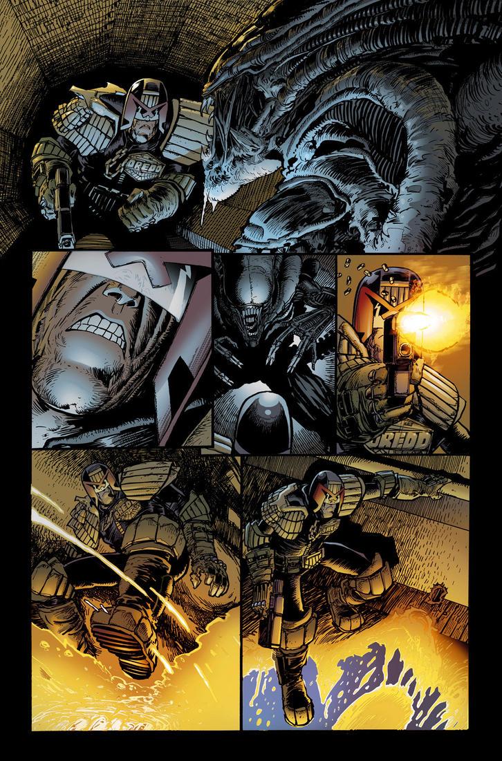 Dredd v Aliens 4 by CeeBee73