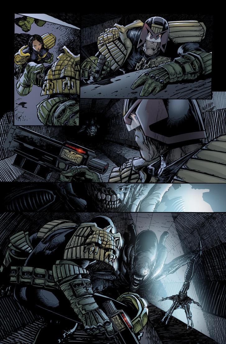 Dredd v Aliens 5 by CeeBee73