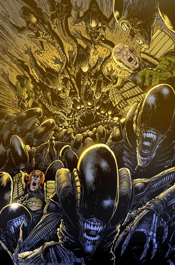 Dredd v Aliens 6 by CeeBee73