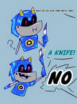 Metal Sonic Gets A Knife