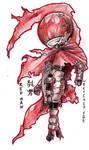 Red Man Chibi Con Badge