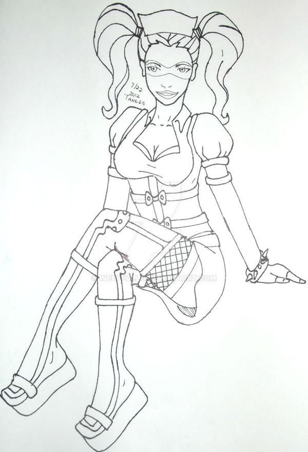 Harley Quinn Outline By Wbuffallo On Deviantart
