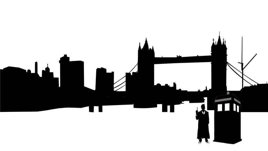 Doctor Who London Silhouette By Joyu12