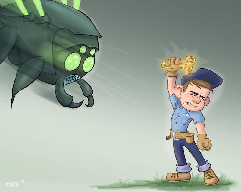 Felix vs Cybug by chill13