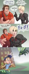 Felix vs Cybug Comic by chill13