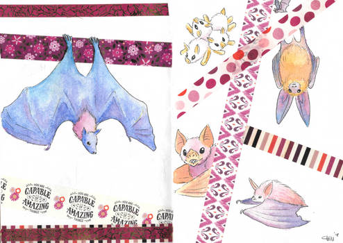 Bats and Washi Tape