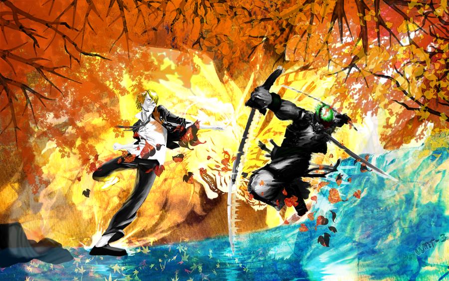 Anime/manga Fan Art - Página 2 Sanji_and_zoro___wallpaper_by_whit_3-d3esre5