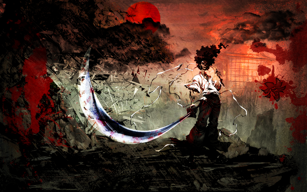 Afro Samurai BLOODY Wallpaper by WHiT-3