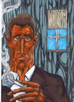 Orange Man Smoking by Ustranga