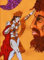 Salome Regards the Head of Moreau by Ustranga