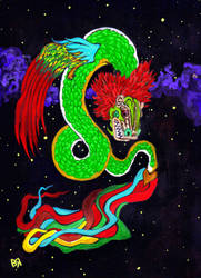 Quetzalcoatl by Ustranga