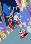 Sonic vs Metal by BanelSpringer