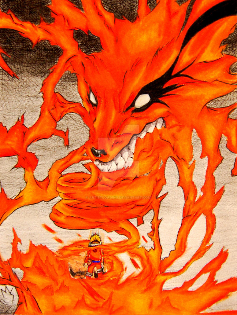 Naruto as the nine tailed fox