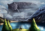 Day 2. Mythicaldogsweek - Fenrir - Wolf