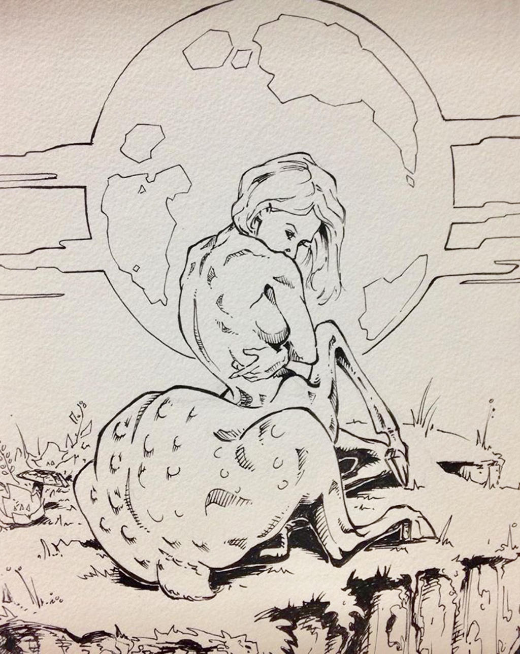 fawn sketch by kyle roberts