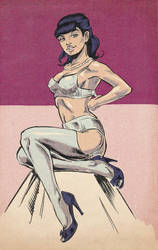 Pin up sketch by kyle-roberts