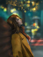 Xmas in the city lights by LadySeegard