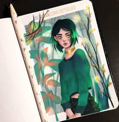 Plants girl sketch  - drawthisinyourstyle