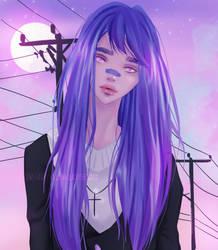 Vaporwave girl - drawthisinyourstyle by LadySeegard