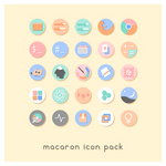 Macaron icon pack