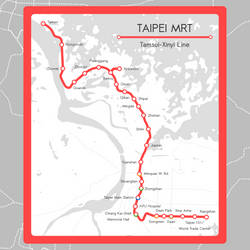 Taipen MTR Red Line Map