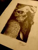 skull lady by AndreySkull