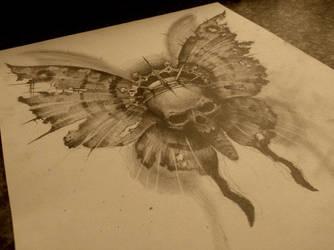 skull butterfly by AndreySkull