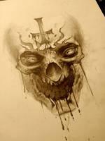 antichrist skull by AndreySkull