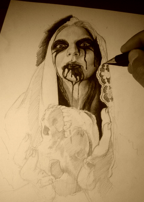 skull in the hands by AndreySkull