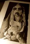 skull in the hands