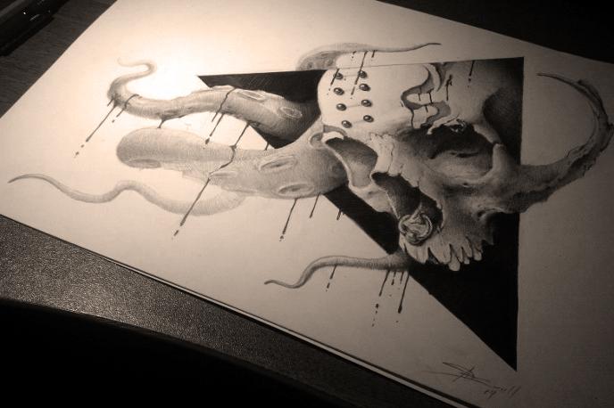 Skull tentacles by AndreySkull