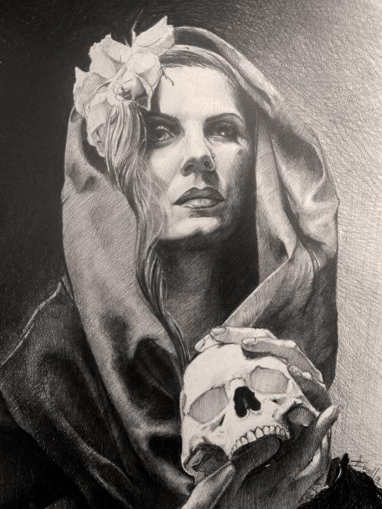 skull in the hands II by AndreySkull