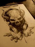 skull hands by AndreySkull