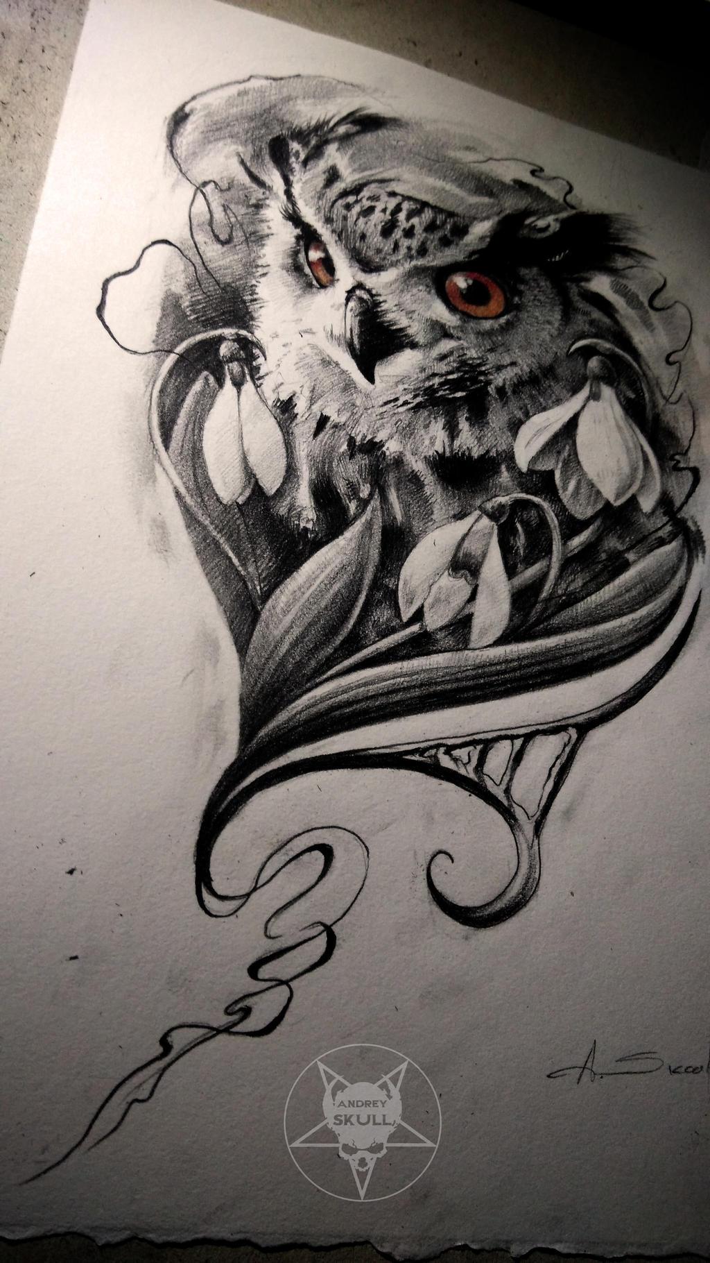 owl by AndreySkull on DeviantArt - photo#20