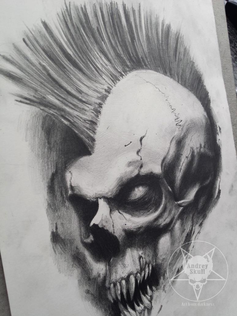mohawk skull by AndreySkull on DeviantArt