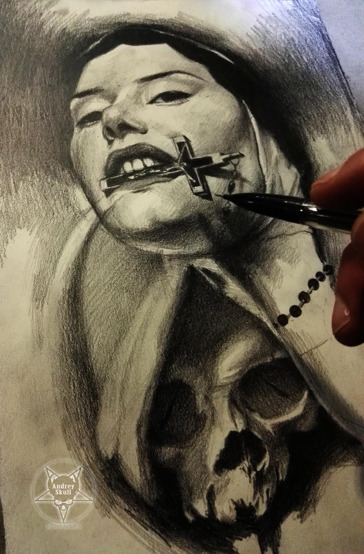 nun skull by AndreySkull