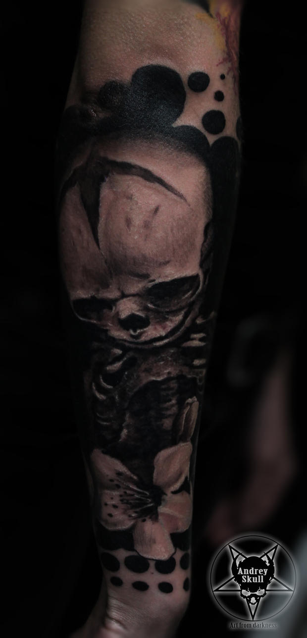 foetal skeleton by AndreySkull